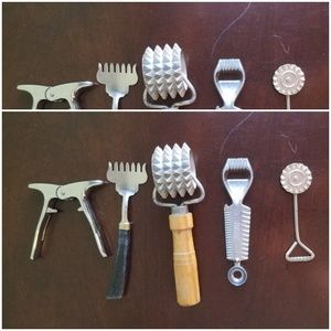 Set of Five Vintage Bar and Kitchen Tools